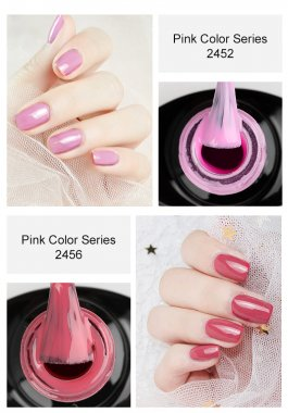 Pink Girl Color Nail Gel