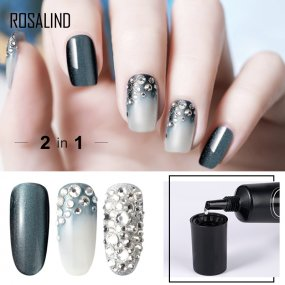ROSALIND 2 in 1 Rhinesotne Glue Top Coat  Nail Gel Strong Adhesive Glue For Nail Rhinestones Decorations Primer