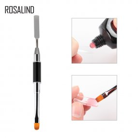 ROSALIND Double Head Brush Tools For Poly Gel Nail Builder Gel Tool Dual-ended Slice Shape Tool for Nail Tips Extension Pen