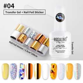 ROSALIND 15ML Nail Art Glue Gel Galaxy Star Adhesive for Foil Sticker Transfer Tips Manicure DIY