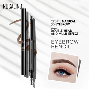 ROSALIND Eyebrow Pencil Waterproof Natural Long Lasting Cosmetics Brown Color Brows Make Up