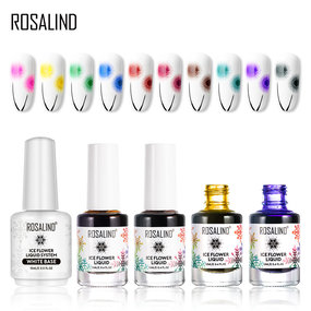 ROSALIND 12ML Nail Polish Nail Blossoming Gel Watercolor Ink Snowflake Ice Flower Liquid