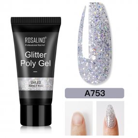 Rosalind 30ML Glitter Silver Poly Gel