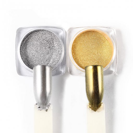 2pcs Magic Mirror Effect Nail Glitter Powders