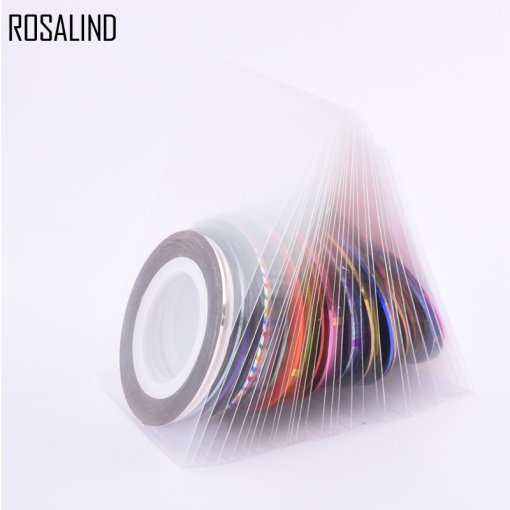 30Pcs/Lot Multicolor Mixed Colors Rolls Striping Tape Line Nail Art Decoration Sticker DIY Nail Tips Glitter Nail