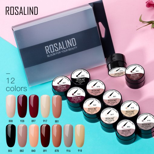 Rosalind (12PCS/LOT) Spider Stamping Gel Nail Kit