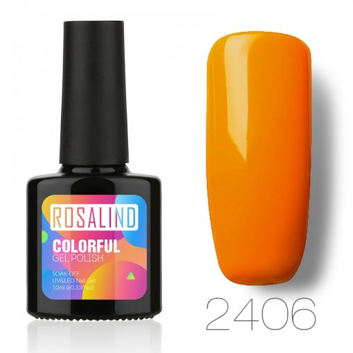 Orange Color Nail Gel