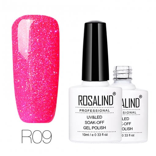 Rosalind Rainbow Glitter Nail UV Gel Holographic Chrome Shiny Gel Polish 10ML