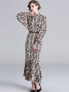 Snakeskin Mermaid Long Evening Dress