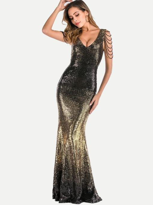 Sequin Tassel Bodycon Mermaid Formal Dress