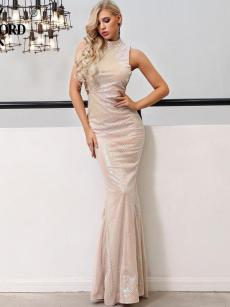 Sequin Bodycon Mermaid Sleeveless Formal Gown