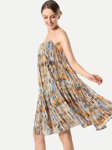 Colorful Print Bohemian Loose Skirt Dress