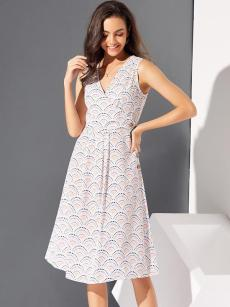 Scale Print Schiffy Sleeveless Midi Dress