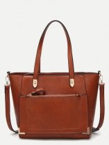 Front Pocket Large Tote Bag