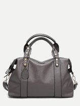 Leather Tassel Large Boston Bag