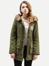Faux Fur Hooded Puffer Parka Coat