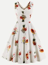50s Retro Pineapple Sleeveless Swing Dress