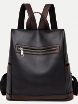 Zipper Front Small Backpack