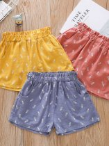 Toddler Girls Printed Shorts