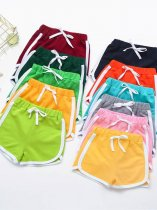 Toddler Girls Solid Lacing Shorts