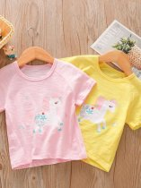 Kids Girls Unicorn Print T-shirt