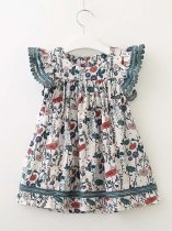 Toddler Girls Floral Print Casual Summer Dress