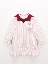 Toddler Girls Striped A-line Dress