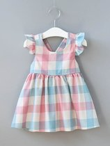 Toddler Girls Color Block Plaid Dress