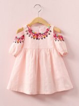 Toddler Girls Off Shoulder Floral A-line Dress