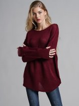 Solid Loose Jumper Sweater