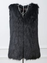 Black Faux Fur Vest