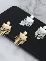 Metal Tassels Drop Earrings