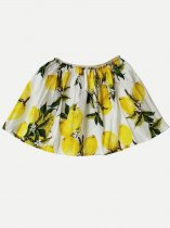 Toddler Girls Lemon Print Skirt