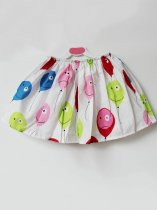 Toddler Girls Balloon Print Skirt