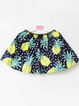 Toddler Girls Pineapple Print Skirt