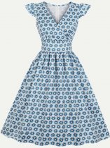 60s Rockabilly Print Swing Dress