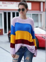 Rainbow Striped Knit Jumper