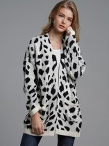 Oversized Leopard Cardigan Sweater