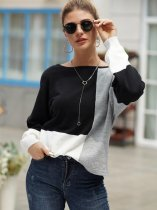 Color Block Loose Knit Jumper