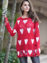Red Heart Knit Sweater