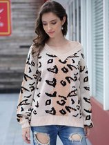 Leopard V Neck Knit Sweater