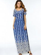 Printed Long Maxi Dress