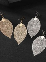 Leaf Shaped Vintage Earrings