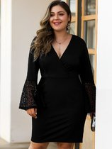 Plus Size Black Lace Bodycon Prom Dress