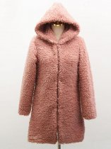 Solid Hooded Faux Fur Teddy Coat
