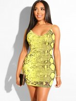 Snakeskin Print Nightwear Cami Dress