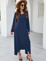 Solid Irregular Swing Maxi Dress
