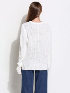 Solid Embroidery Knit Sweater