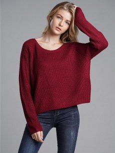 Red Loose Knit Sweater