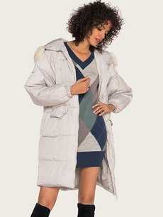 Detachable Faux Fur Hooded Puffer Coat